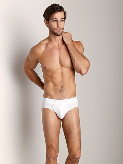 Calvin Klein Black Cotton Hip Brief White