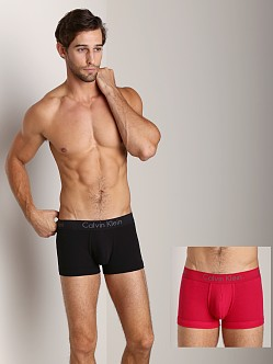 Calvin Klein Body 2-Pack Trunk Black/Flame Red