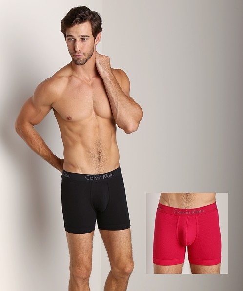 640d44c635f3 Calvin Klein Body 2-Pack Boxer Brief Black/Flame Red U1805-BFM at  International Jock
