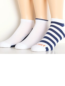 2xist No Show Sport Socks 3-Pack White