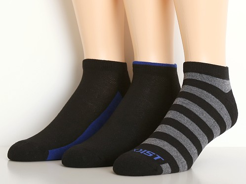 2xist No Show Sport Socks 3-Pack Black