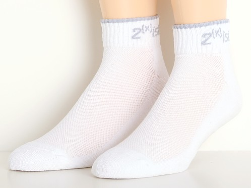 2xist Quarter Top Sport Socks 3-Pack White