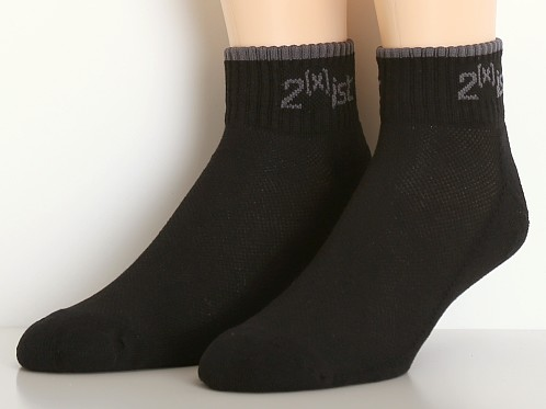 2xist Quarter Top Socks 3-Pack Black