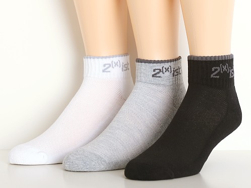 2xist Quarter Top Socks 3-Pack Assorted