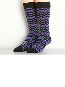 2xist Casual Dress Zig Zag Socks Black