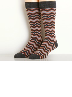 2xist Casual Dress Zig Zag Socks Dark Grey