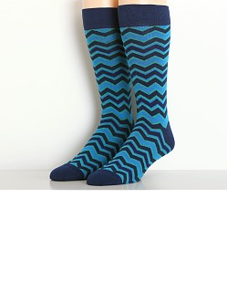 2xist Casual Dress Zig Zag Socks Navy Blue