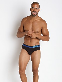 2xist Barcode No Show Brief Black