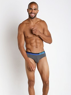 2xist Barcode No Show Brief Stripe