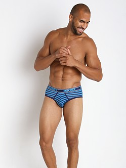 2xist Prints No Show Brief Blue Danube