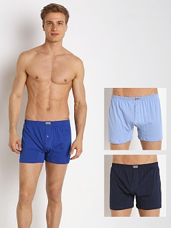 2xist Essential 3-Pack Knit Boxer Navy/Cobalt/Porcelain