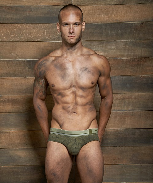 C-IN2 Filthy Lo No Show Profile Brief Olive Fatigue