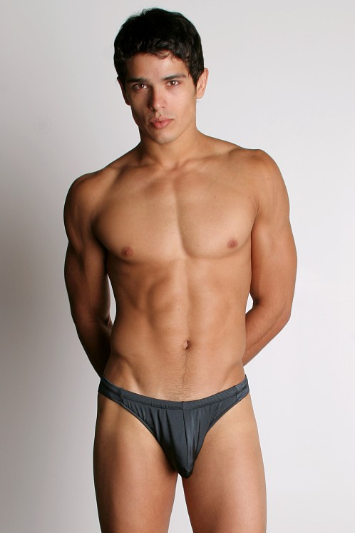 California Muscle Colt Swim Briefs Charcoal