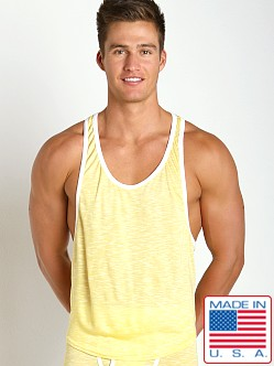 Go Softwear Vivid Heather Athletic Tank Yellow