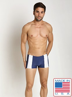 Go Softwear Viktor C-Ring Square Cut Navy/White