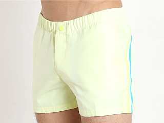 "Sundek Transparent Rip Stop 13"" Swim Trunk Wow Yellow"