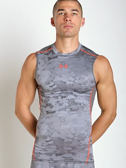 Under Armour Heatgear Sleeveless Printed Compression Tee Graphit