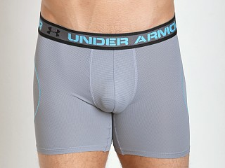 "Under Armour ISO-Chill 6"" Mesh BoxerJock Steel"