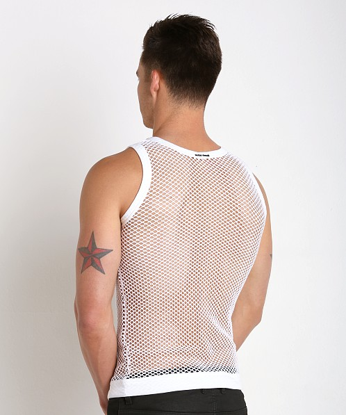 Modus Vivendi French Mesh Tank Top White