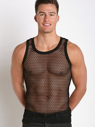 Modus Vivendi French Mesh Tank Top Black