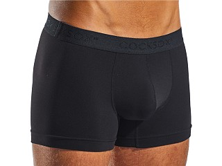 Model in black CockSox Contour Supplex Pouch Boxer
