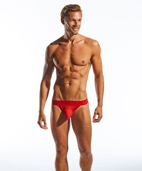 CockSox Enhancer Pouch Supplex Jockstrap Red