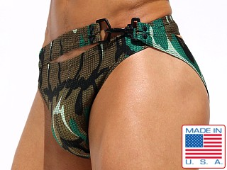 Rufskin Hoffman Summer of Love Double Waist Swim Brief Camo