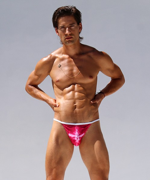 Rufskin Ashbury Summer of Love Euro Swim Brief Tie Dye Pinks