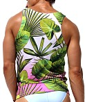 Rufskin Tropic Sublimated Stretch Cross V-Neck Tank Top Print, view 4