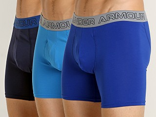 "Under Armour Cotton Stretch 6"" Boxerjock 3-Pack Blues"