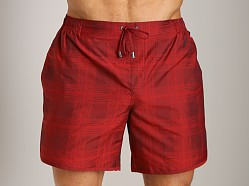 Hugo Boss Angel Shark Swim Shorts Burgundy