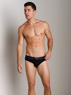 Emporio Armani Pima Rib Stretch Cotton Brief Black