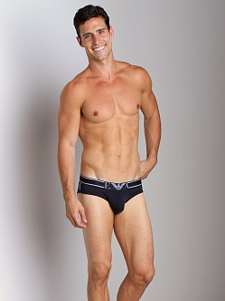 Emporio Armani Pima Rib Stretch Cotton Brief Marine