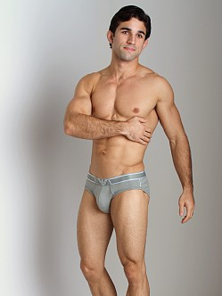 Emporio Armani Pima Rib Stretch Cotton Brief Sage
