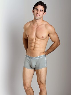 Emporio Armani Pima Rib Stretch Cotton Trunk Sage