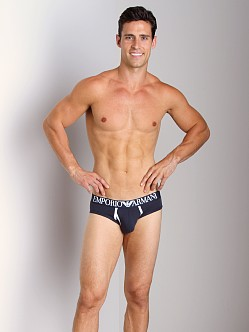 Emporio Armani Contrast Stretch Cotton Brief Marine