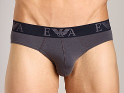 Emporio Armani Embossed Stretch Cotton Brief Grey