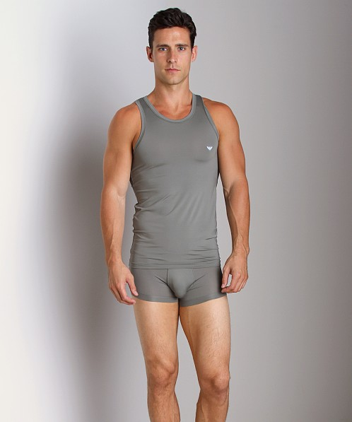 Emporio Armani Basic Stretch Microfiber Tank Top Sage