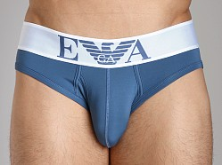 Emporio Armani Basic Stretch Microfiber Brief Smokey Blue