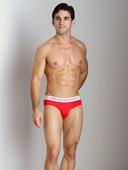 Emporio Armani Basic Stretch Microfiber Hip Brief Red