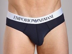Emporio Armani Basic Stretch Microfiber Hip Brief Marine