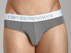 Emporio Armani Basic Stretch Microfiber Hip Brief Sage