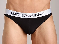 Emporio Armani Basic Stretch Microfiber Thong Black