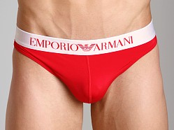 Emporio Armani Basic Stretch Microfiber Thong Red