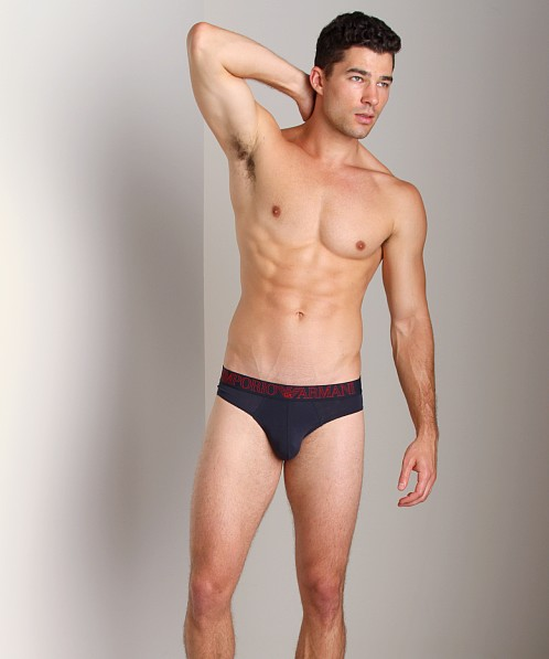 Emporio Armani Pima Jersey Stretch Cotton Brief Marine