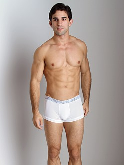 Emporio Armani Pima Jersey Stretch Cotton Trunk White