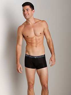 Emporio Armani Pima Jersey Stretch Cotton Trunk Black