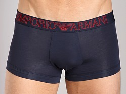 Emporio Armani Pima Jersey Stretch Cotton Trunk Marine