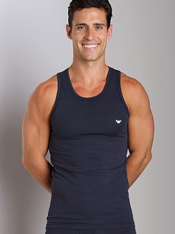 Emporio Armani Basic Stretch Cotton Tank Top Marine