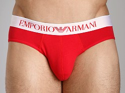 Emporio Armani Basic Stretch Cotton Hip Brief Red